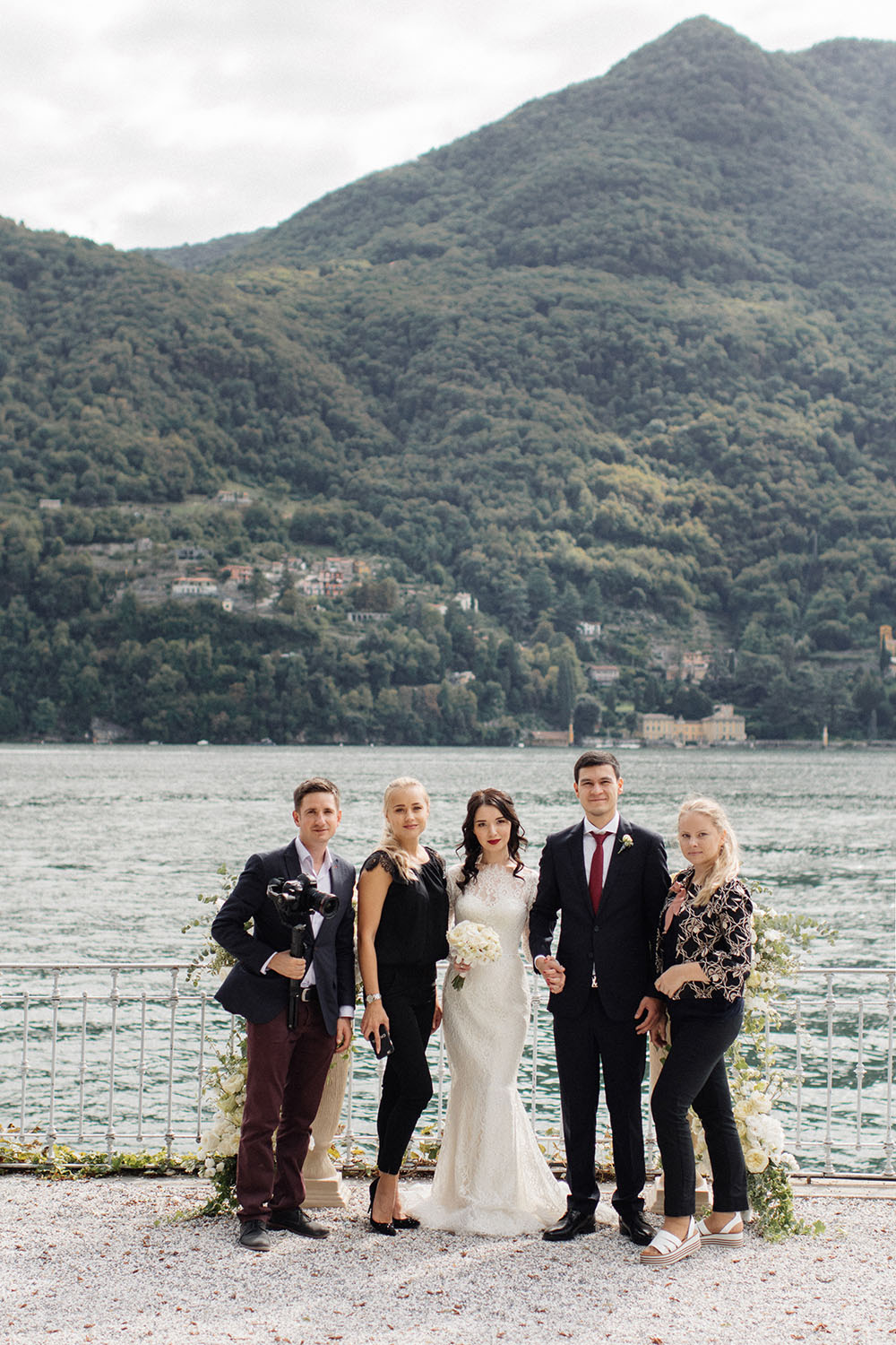 wedding on lake Como