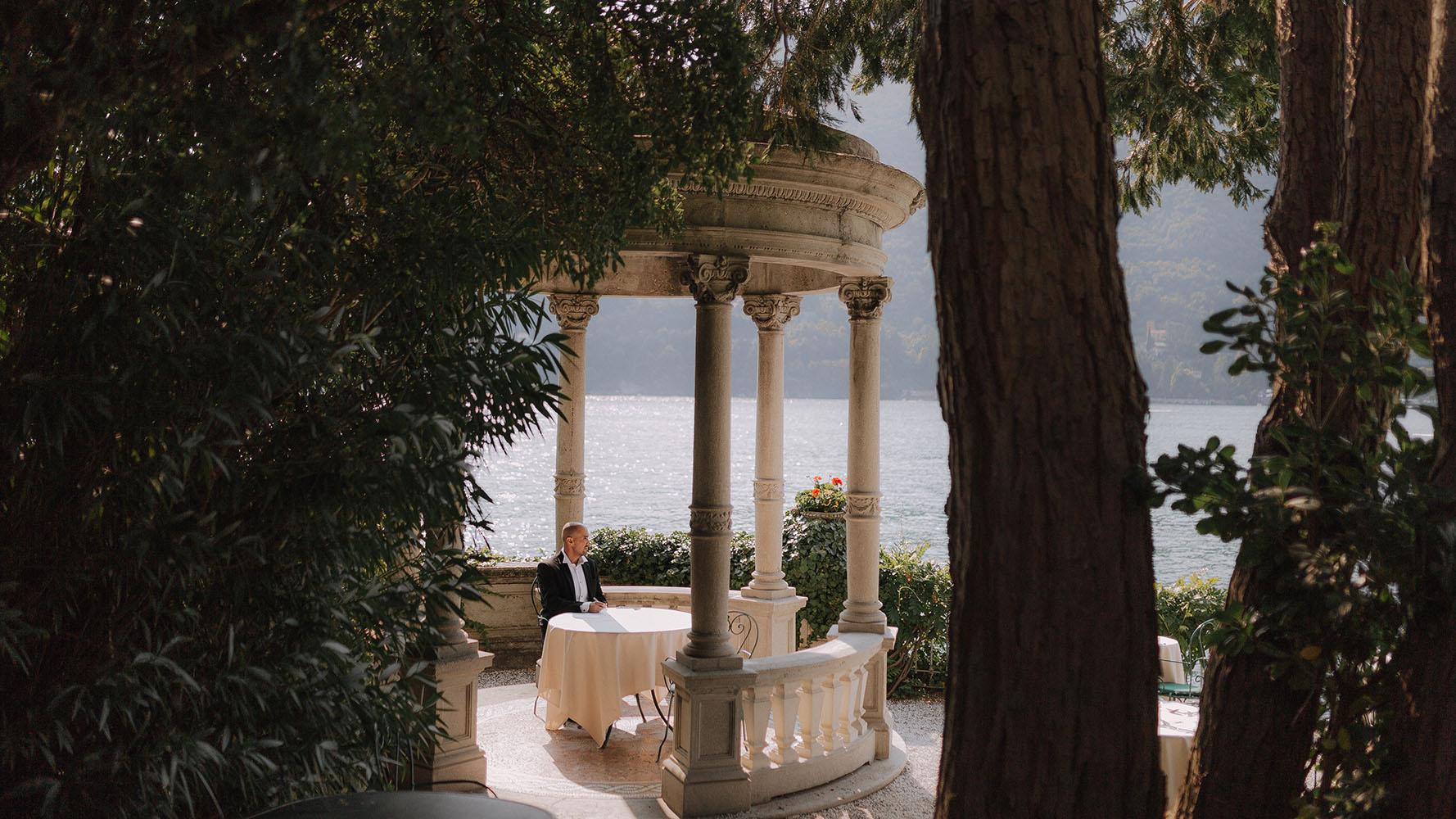 wedding on lake Como