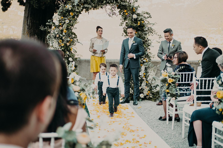 Свадьба на озене Комо